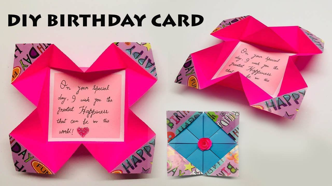 How To Make Easy Birthday Card   Card Making Ideas ...