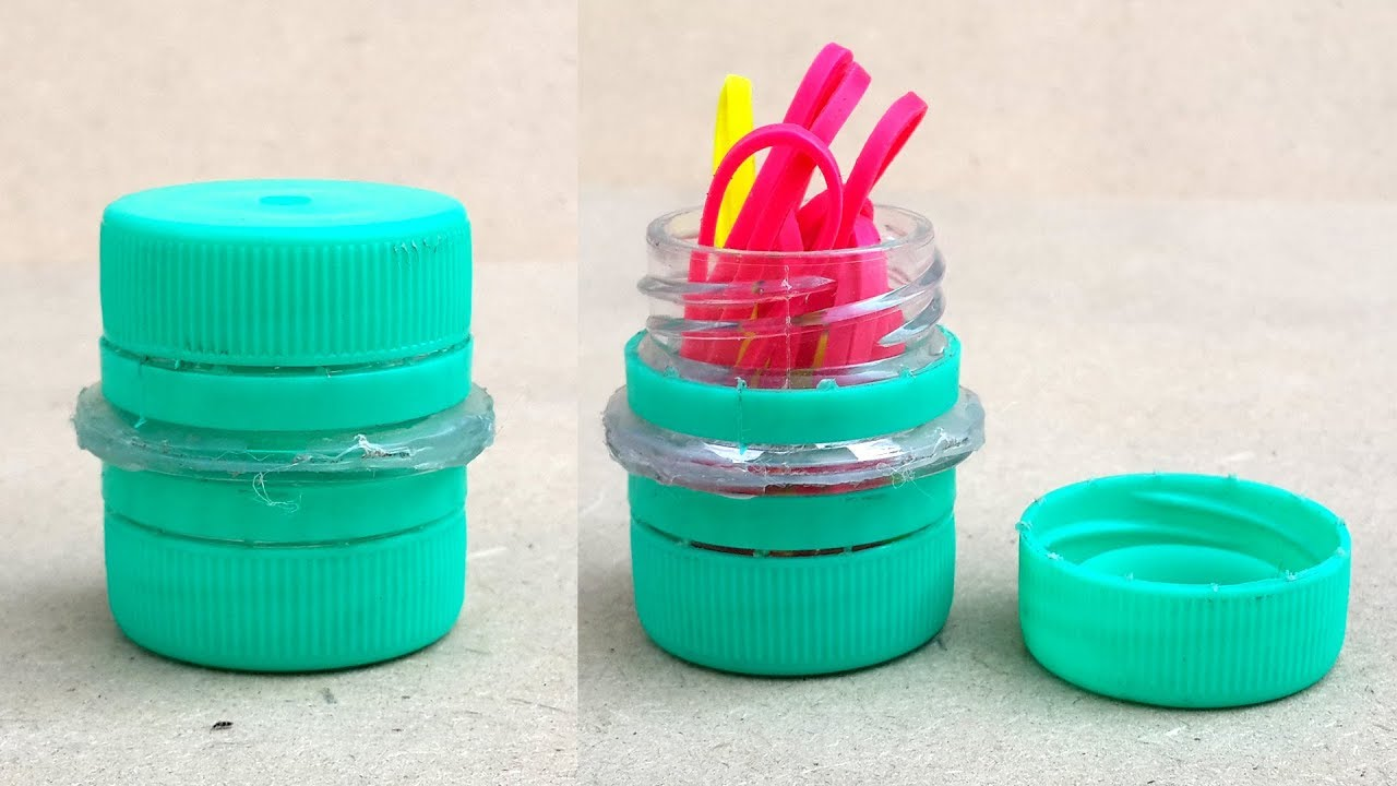How To Make A Bottle Cap Container Diy Recycled Crafts