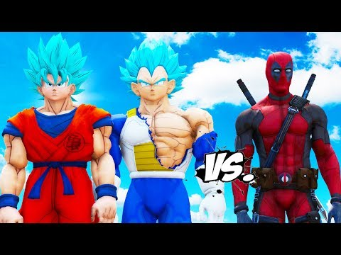 Goku & Vegeta VS Deadpool - EPIC BATTLE