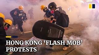 Hong Kong 'flash mob' protests