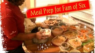 29|| Meal Prep For A Family Of 6