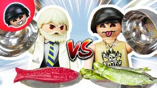 KARLCHEN KNACK - REAL FOOD vs. GUMMI FOOD - Playmobil Polizei Film #23