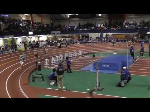 National champions and Connecticut state record by Peter Elkind (1200), Jack Scott (400), Walker Marsh (800) and Henry Wynne (1600) of Staples in the distance medley relay at the New Balance Indoor Track and Field High School National Championships.