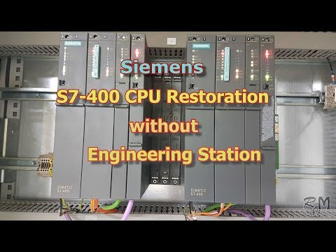 Siemens S7 400 CPU Redundancy Loss Fault Restoration without Engineering Station OR Simatic Manger