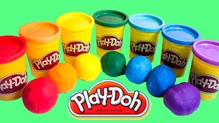Play Doh Rainbow Surprise Eggs Play-Doh Toys Huevos Sorpresa Plastilina радуга многоцветный