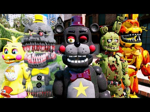 THE SCARIEST ANIMARONIC STORIES! (GTA 5 Mods FNAF Kids RedHatter) thumbnail