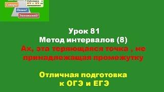 Урок 81 Как решать неравенство Методом интервалов( 8 )