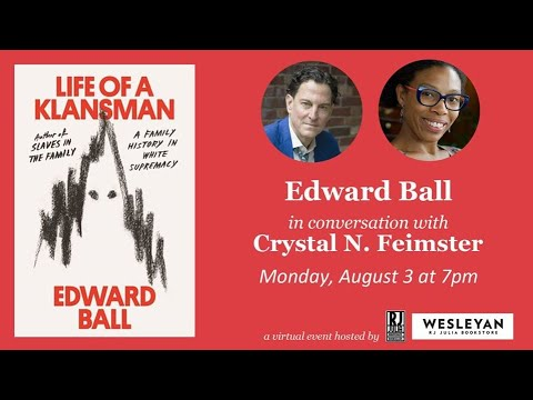 Download RJ Julia presents Edward Ball in conversation with Crystal N. Feimster