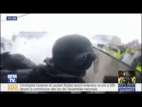 Ces images embarquées témoignent de la violence des affrontements sous l'Arc de Triomphe samedi