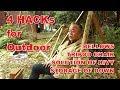 4 hacks for camping / キャンプ4つのアイデア の動画、YouTube動画。