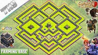 New TH9 Dark Elixir farming base (X-Bows Island) 2018 - Clash of Clans