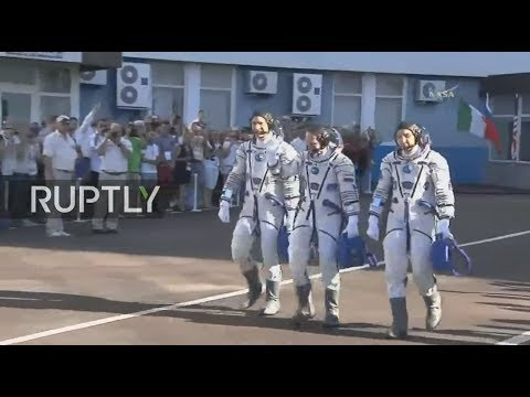 LIVE: Latest ISS crew lifts off at Baikonour Cosmodrome