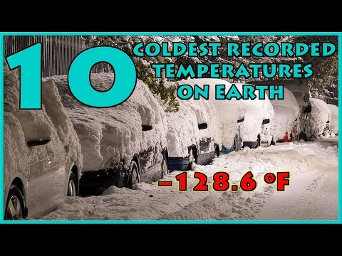 Top 10 COLDEST Recorded Temperatures on EARTH