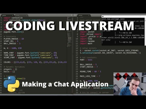 Coding Livestream - Creating an Online Chat App w/ Python!