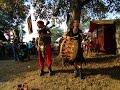 Scotland the Brave. Шотландская волынка и барабан. Живая средневековая музыка в Апольда.