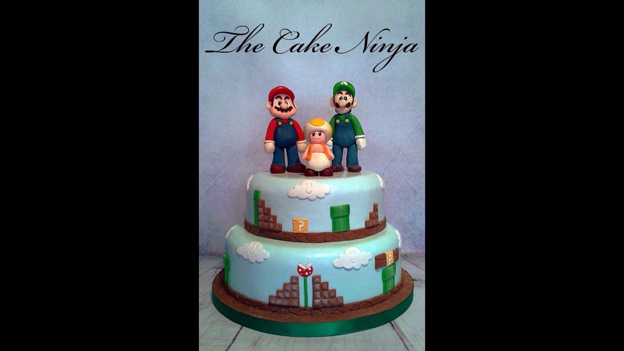 How To Make Mario Cake Topper Tutorial Youtube