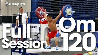 Om Yun Chol Snatches up to 120kg Full Session 2015 World Weightlifting Championships