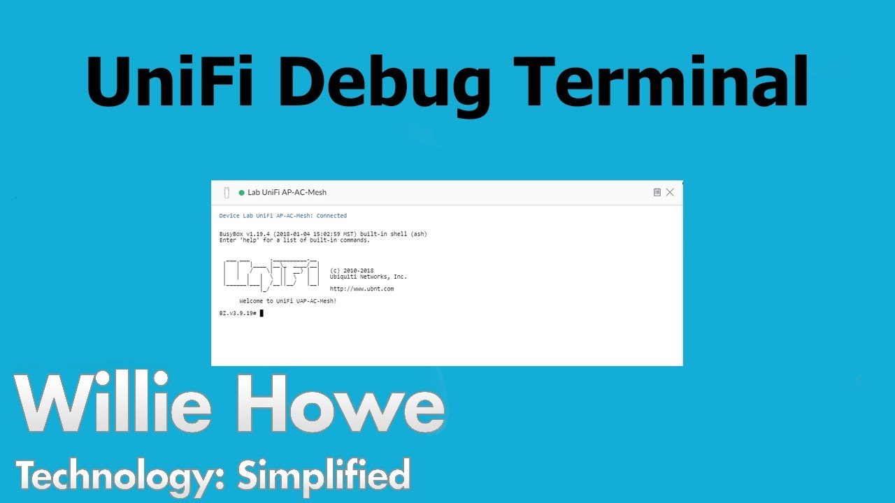 UniFi Debug Terminal - Power At Your Fingertips! - Willie