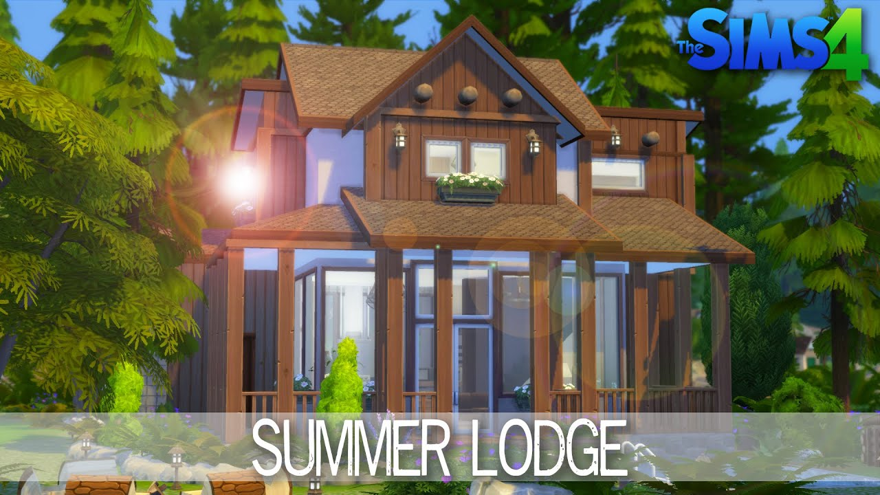 The sims 4 house building summer lodge speed build for Build your house