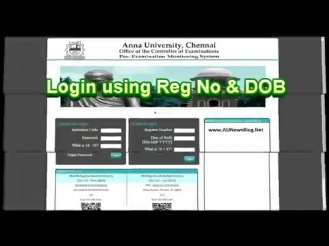 Anna University Exam Results Checking Methods