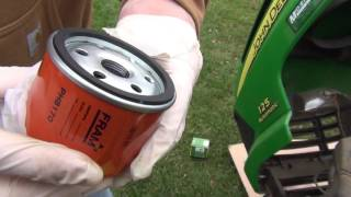 How to Change Oil on a John Deere 100 Series 125 Automatic