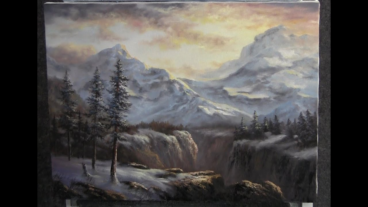 Paint With Kevin Hill Winter Mountain Range Youtube