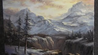 Paint with Kevin Hill - Winter Mountain Range