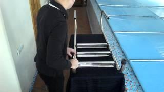 лестница в бассейн из нержавеющей стали производство Украина(Компания E-Click занимается продажей оборудования для бассейнов и фонтанов. Вся продукция изготовлена на..., 2015-02-20T15:36:27.000Z)