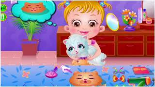 Baby Hazel and her Kitten kid games video Barbie doll movie play toys review kid learning games