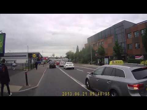 Taxi Driver Attempts A Left Hook