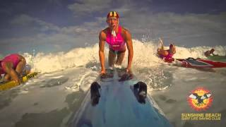 SUNSHINE BEACH SURF LIFE SAVING GoPro December 2013  catch this one