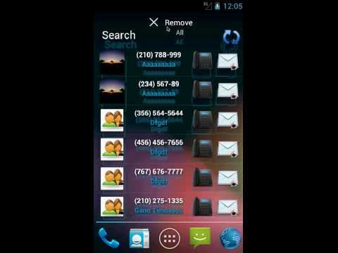 Android: Contacts in a list (widget) - Επαφές σε λίστα (widget)