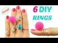 6 DIY Rings | Adjustable & NO Tools! | Easy rings