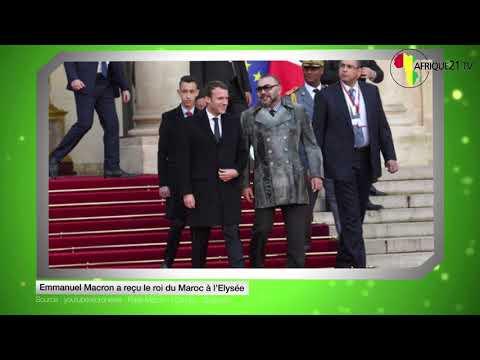 Emmanuel Macron a reçu le roi du Maroc à l'Elysée