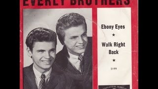 The Everly brothers ~ Ebony Eyes [ A Tear Jerker ]