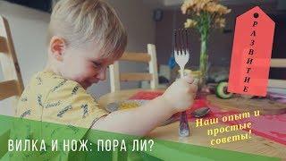 когда учить кушать вилкой и пользоваться ножом?   Простые советы и практика