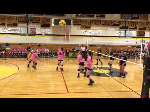 Amity Girls Volleyball 2015 Pink Game vs Shelton 10-21-2015