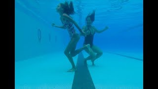 Carla Underwater - swimming underwater with my Mom