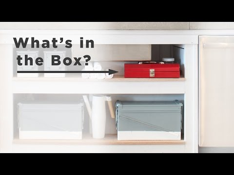 What is in the box? DIY kitchen accessories for open shelves