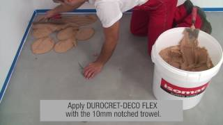 ISOMAT: Complete microcement coating system-application on floors (DUROCRET-DECO FLEX)