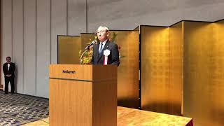 日本製紙連合会 矢嶋進会長(王子HD代表取締役社長)挨拶