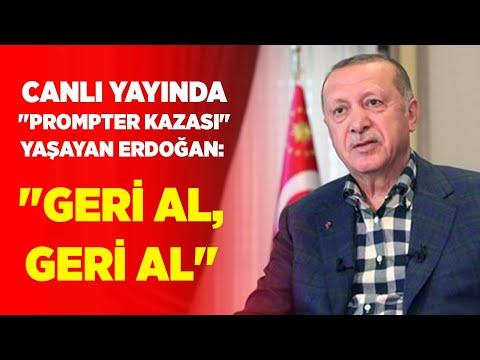 Canlı Yayında ''Prompter Kazası'' Yaşayan Erdoğan: ''Geri Al, Geri Al'' | Akşam Haberleri|01.08.2020