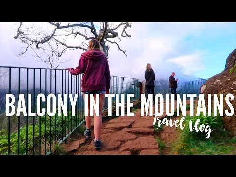 Balcony in the mountains of Madeira! | Travel Vlog