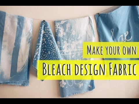 Bleach art, make your own fabric (part 1)