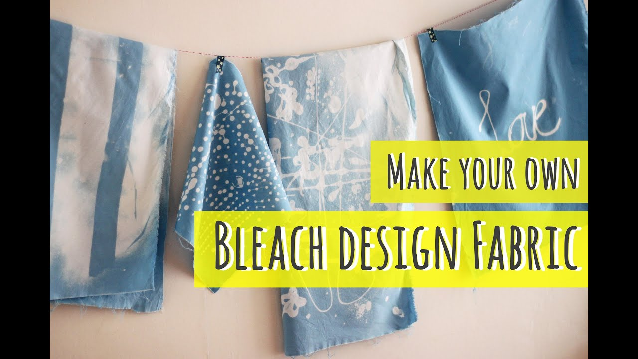 Bleach art, make your own fabric (part 1) - YouTube