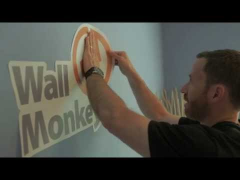 Installing Your Wallmonkeys.com Decal!