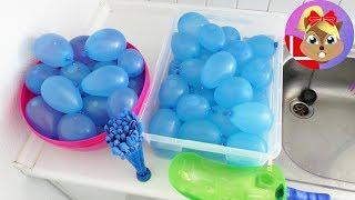 Vandballonsleg – hvilken fyldes op først? Sjov test af vandballoner