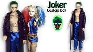joker mr j inspired doll barbie repaint suicide squad