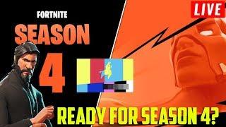 GETTING READY FOR SEASON 4 FORTNITE | JOHN WICK SKIN | +175 Wins |