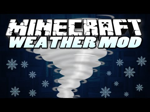 Minecraft Mods | WEATHER MOD! | (Hail Storm, Tornado, Hurricane) | Mod Showcase